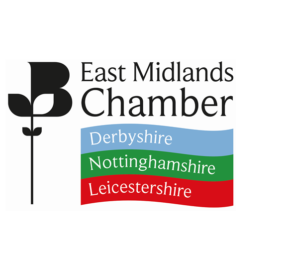 East Midlands Chamber logo on white background